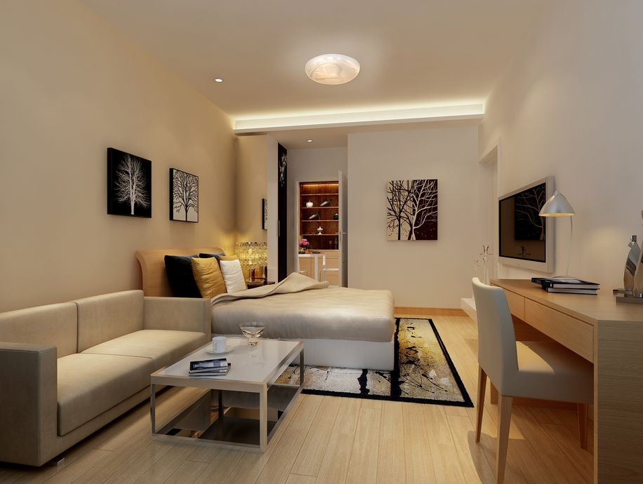 润丰锦尚两室两厅87平装修效果图简约设计